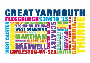 Word Cloud of borough towns and villages