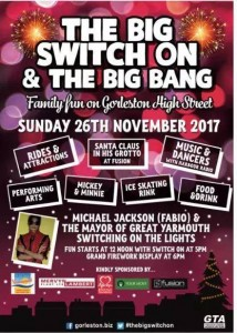 Gorleston Switch On poster