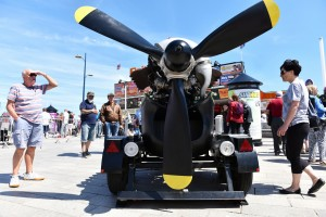 Wheels Festival 2017, Great Yarmouth. Rolls Royce Merlin aero display. Picture: James Bass Photography No unauthorised use wthout agreed terms. Mobile: 07553766562