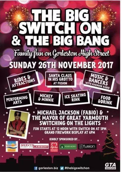 Gorleston Switch On poster